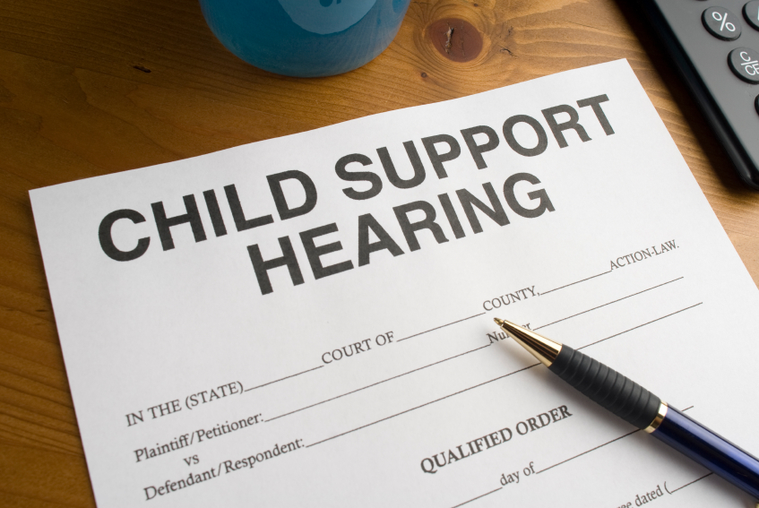 Photo a Child Support Hearing Document